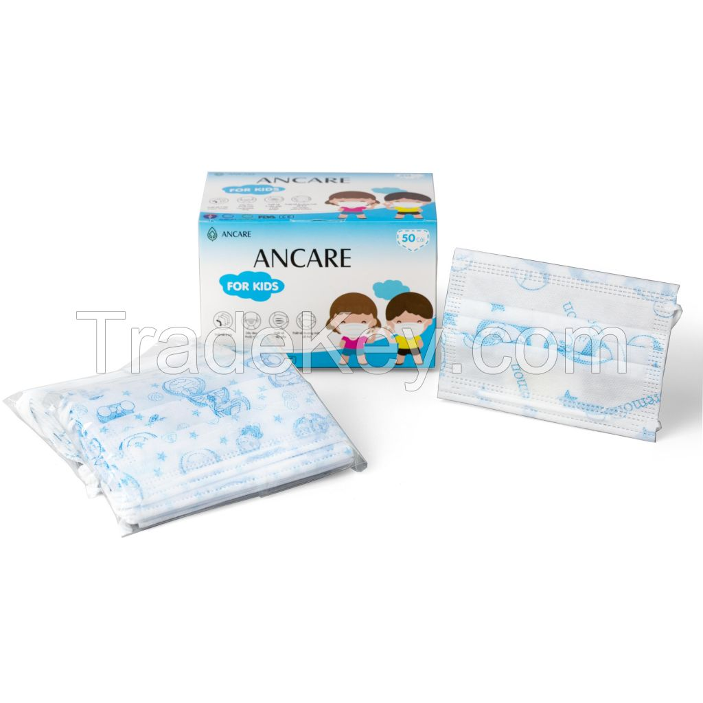3 PLYS DISPOSABLE FACE MASK FOR KID