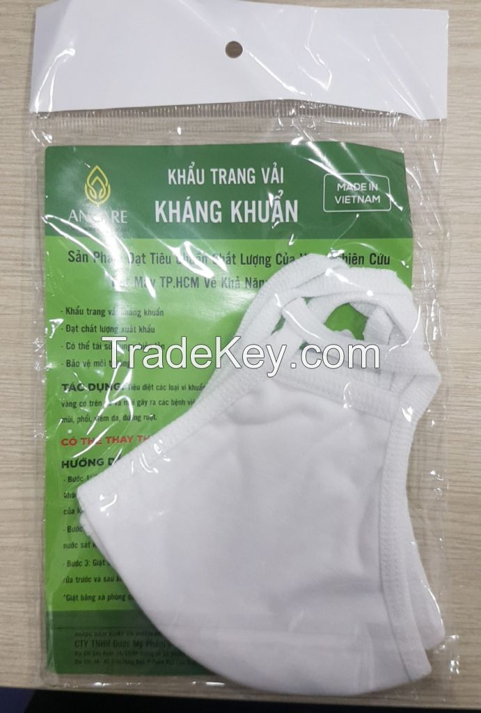 2 LAYERS ANTIBACTERIAL FACE MASK COTTON