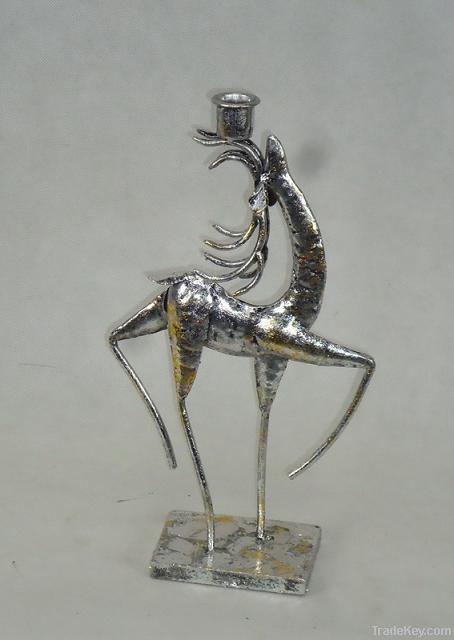 METAL DEER CANDLE HOLDER