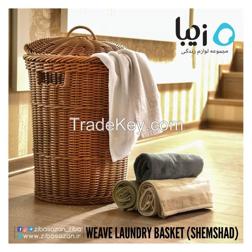 Laundry weave basket