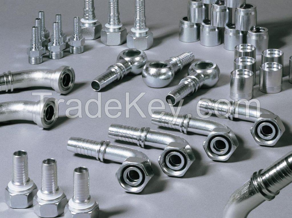 Hydraulic Hose, Industrial Hose, PVC Hose, All kind of hydraulic hose fittings