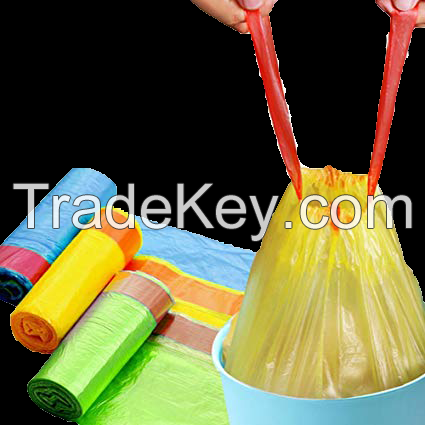 drawstring garbage bag on roll