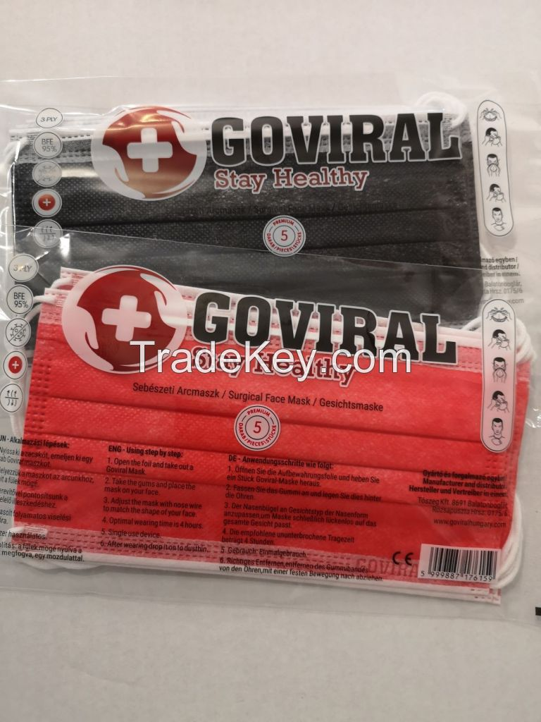 GOVIRAL 3PLY SURGICAL COLOUR FACE MASK PRICE LOW!!!