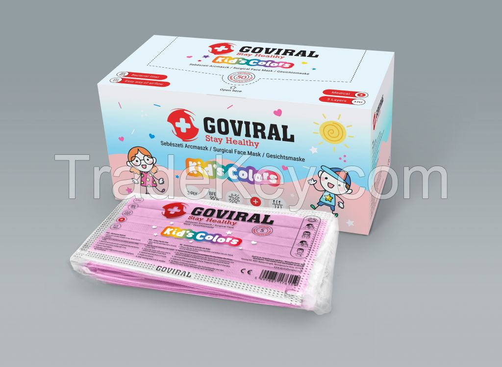 GOVIRAL KIDS 3PLY SURGICAL/MEDICAL  FACE MASK PRICE LOW