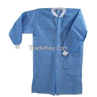 non woven Disposable lab coat surgical lab coat