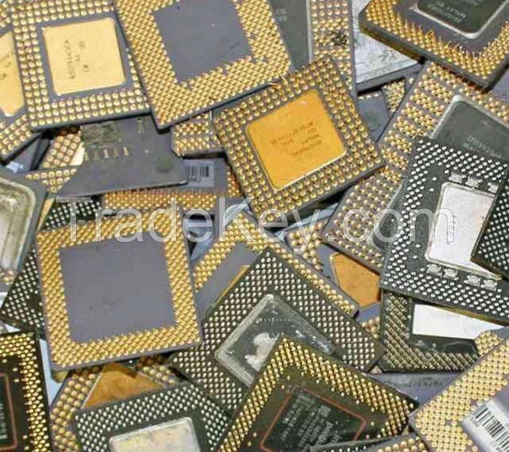 CPU CERAMIC PROCESSOR SCRAP WITH GOLD PINS CHEAP PRICE