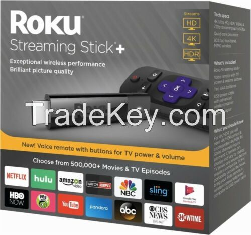 Roku 4K HDR Media Streaming Stick+ with Voice Remote - 3810R