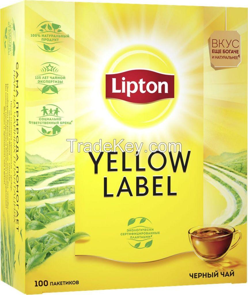 Lipton yellow label tea bags 100's/50's/25's. Russia Origin