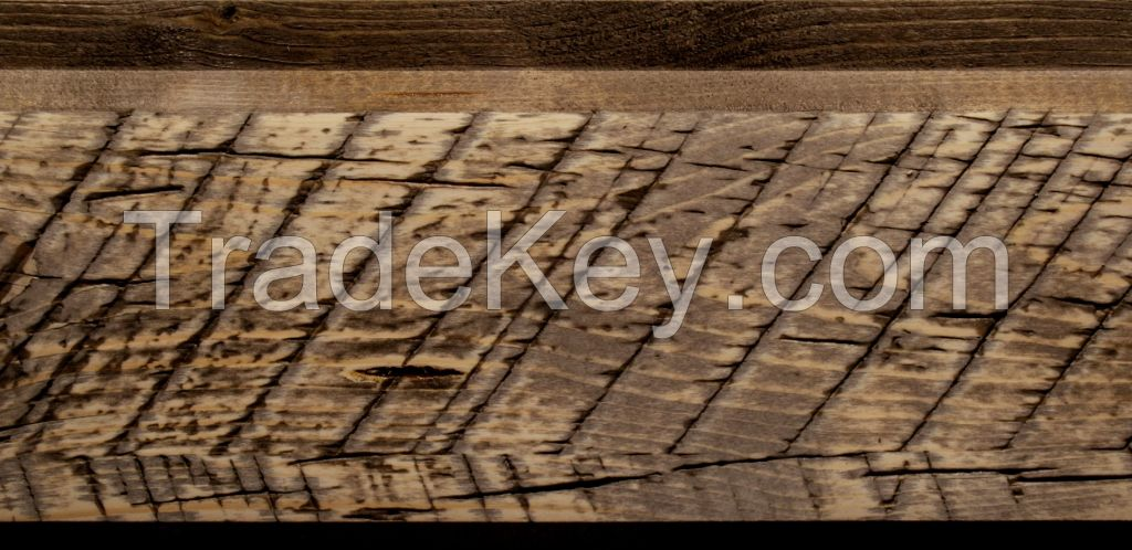 Structured wooden board for cladding/ finishing of facade