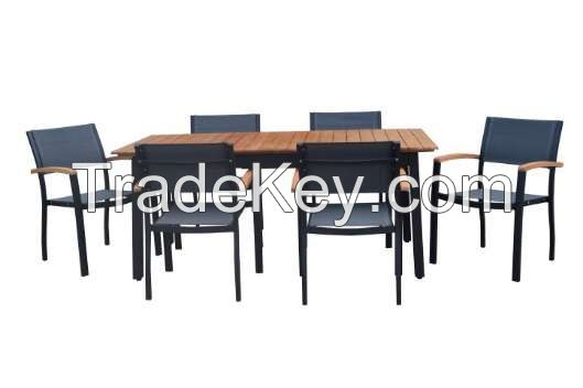 Outdoor Furnitures - Wooden - Steel Tables Set