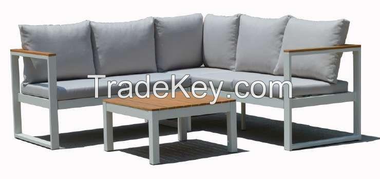 Outdoor Furnitures - Wooden Steel Sofa Set