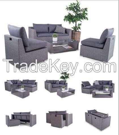 Outdoor Furnitures - Wicker Sofa Set