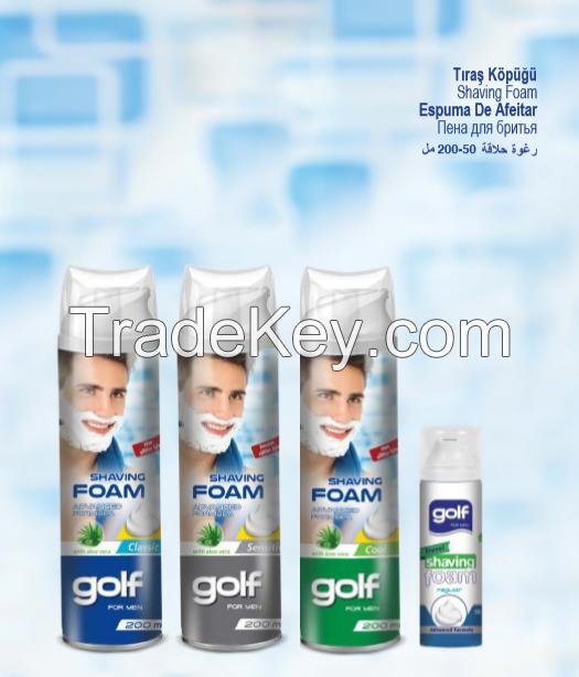 Golf Shaving Foam With Aloe Vera 200ml