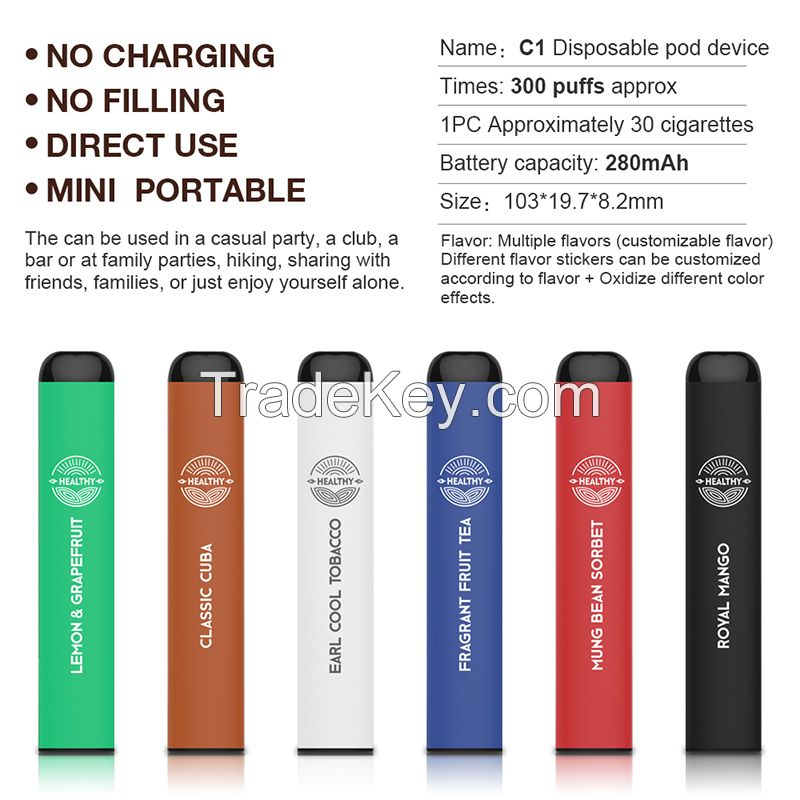 GTRS Hot Selling Puff Bar Disposable Vape Pen Original Manufacturer 1000 Puff Electronic Cigarette