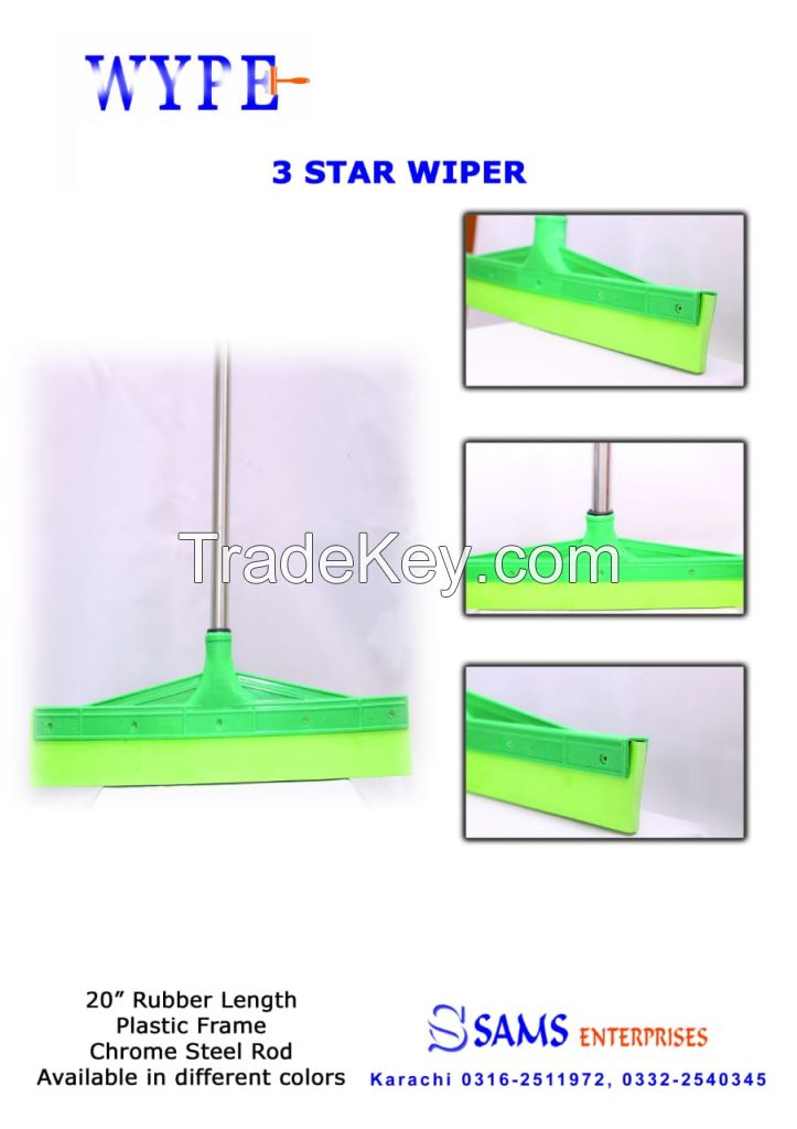 Floor Squeegee Scrubber 20inch Long  Heavy Duty Household Wiper Perfect for Tile Water Foam Cleaning