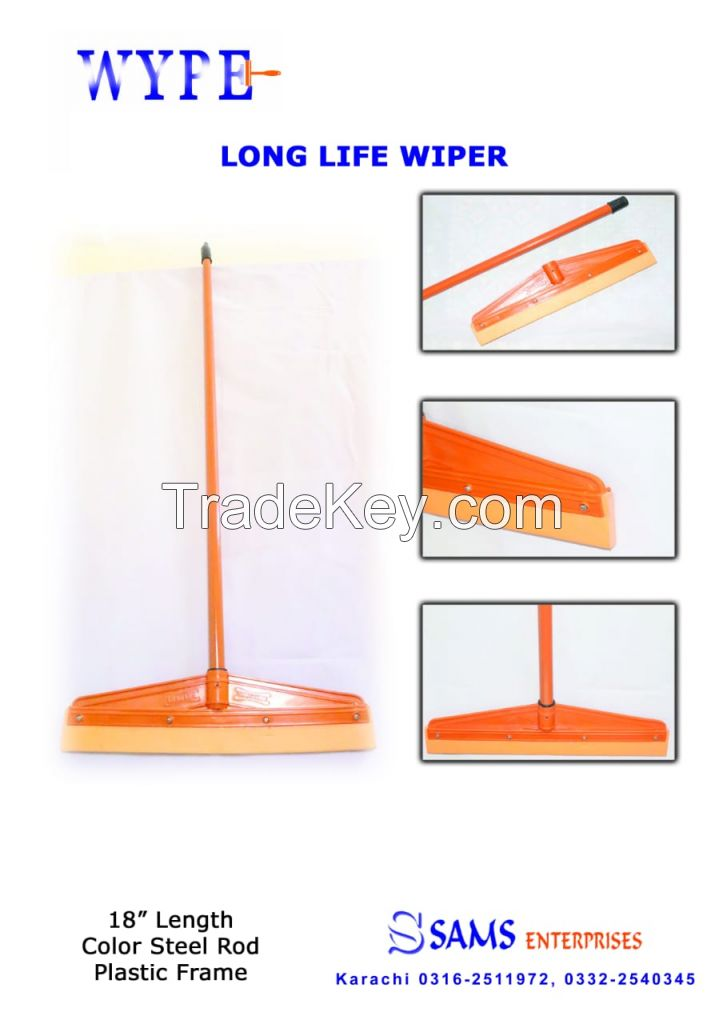 Floor Squeegee Scrubber 18inch Long  Heavy Duty Household Wiper Perfect for Tile Water Foam Cleaning