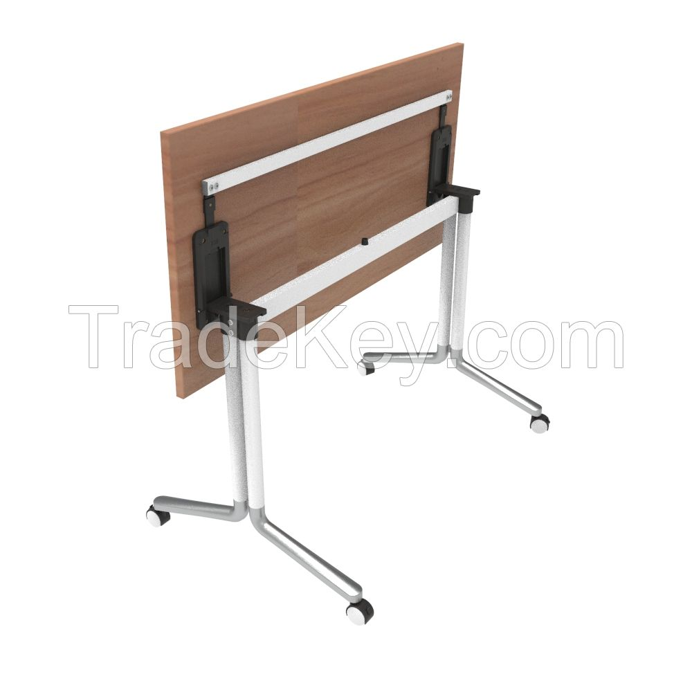 Modern office furniture training desk wood conference table foldable training folding table with wheels