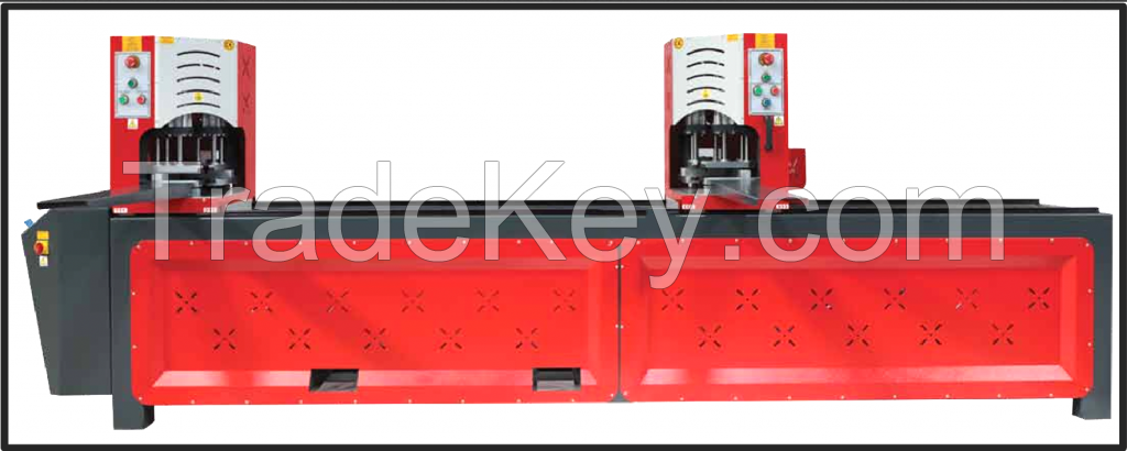 AUTOMATIC DOUBLE CORNER WELDING MACHINE TOUCH SCREEN (CLAY)