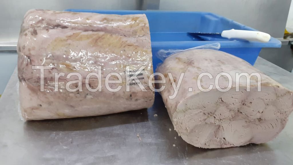 Precooked tuna loins for canned seafood from Ecuador