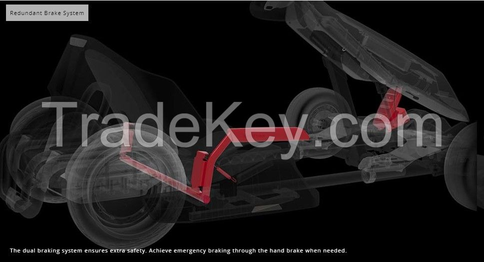 Nine bot gokart kit balance car scooter go cart for kids double collision protection best gifts range 25KM