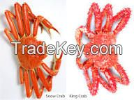 Live and frozen crabs