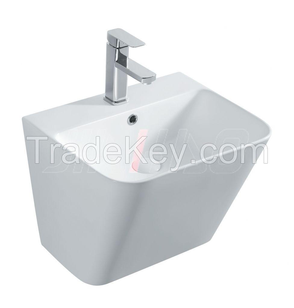 Wall-hung Basins Ceramic Hand Wash Basin Bathroom Sink 7200