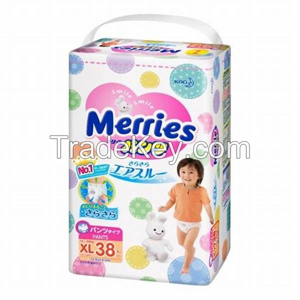 Baby diaper  Merries Airthrew Large incremental Baby Diapers