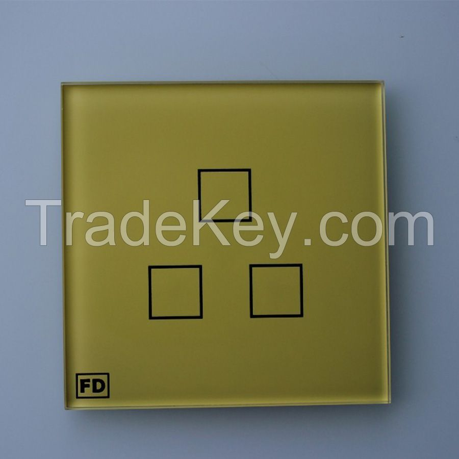 2mm 3mm 4mm Tempered Glass Touch Control Panel for Hotel Door Lock
