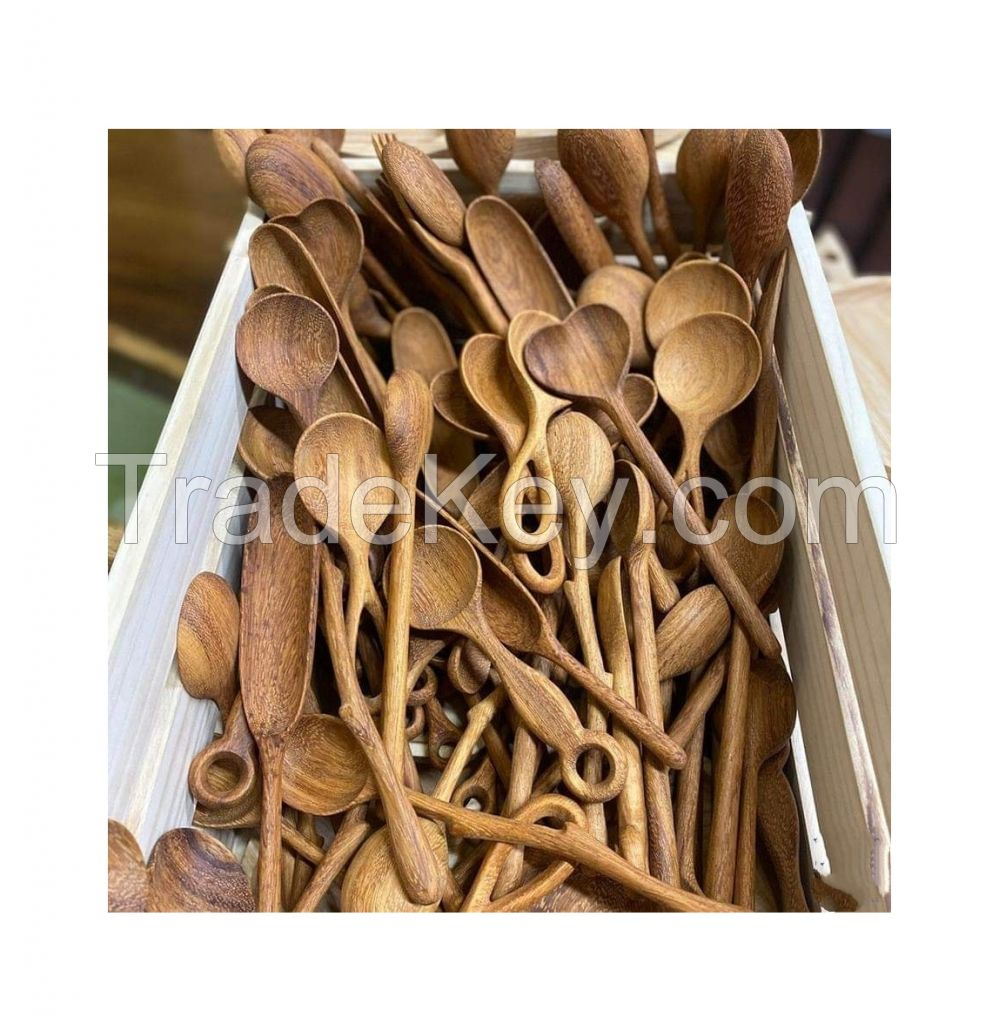 Eco-friendly Cutlery Spoon Wood Customized Logo Handle With Good Quality ( Annie 0084702917076 WA )