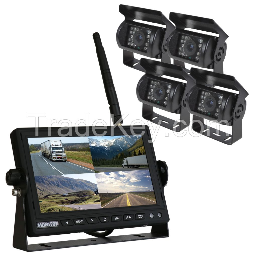 4-Channels Reversing Camera System with Recording Function