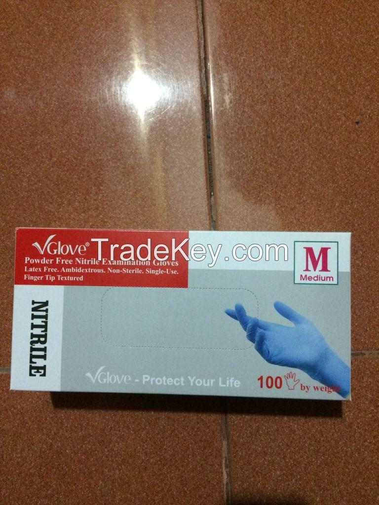 surgical nitrile examination gloves