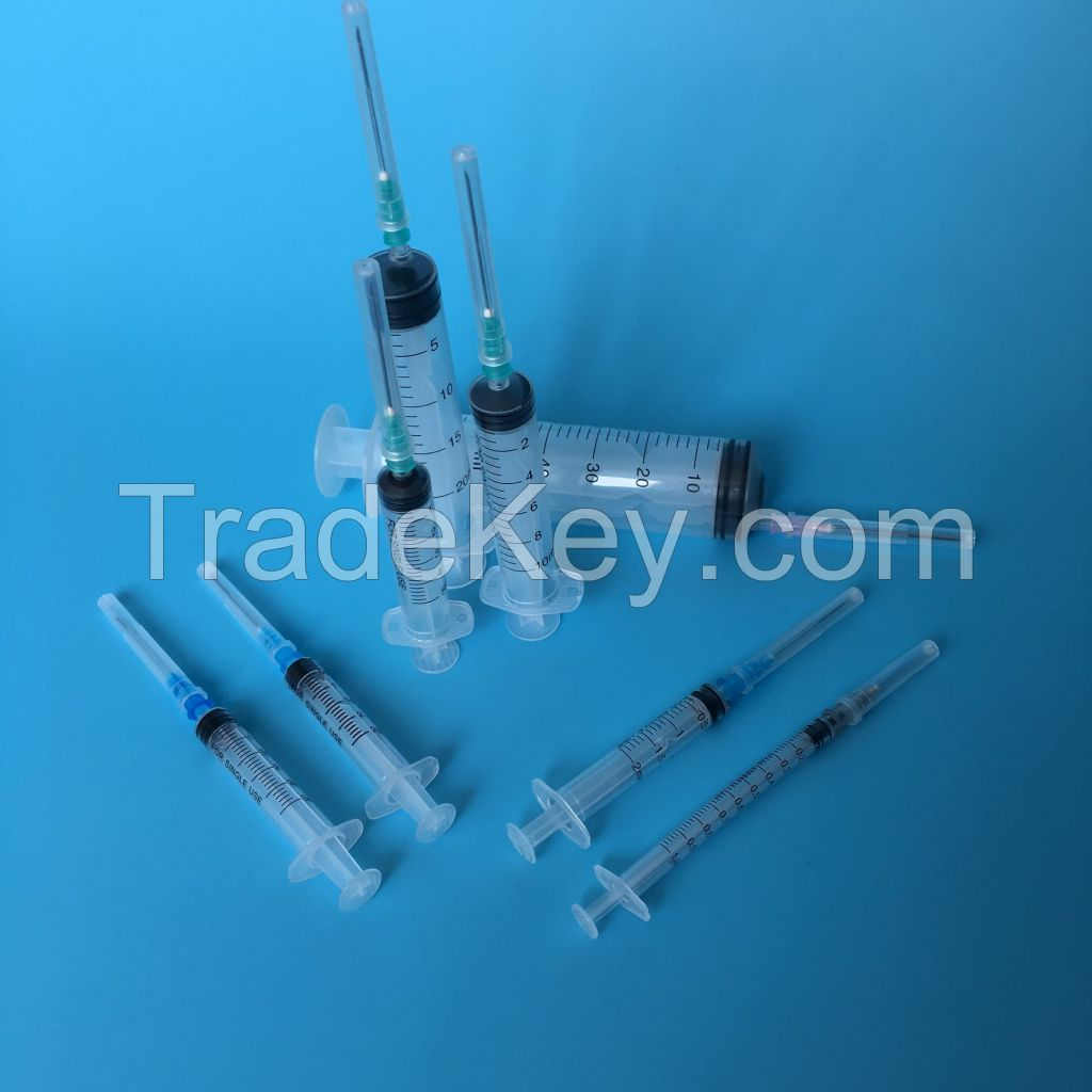 Plastic Disposable Syringes With/Without Needle
