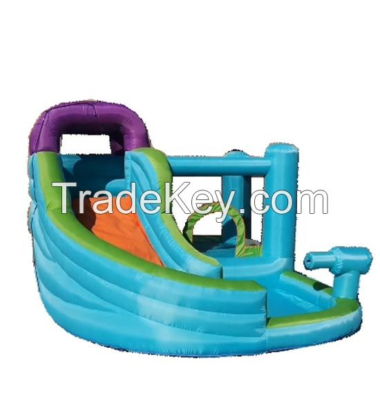 Family Backyard Inflatable Bouncer for Sale Inflatable Kids Waterslide with Pool