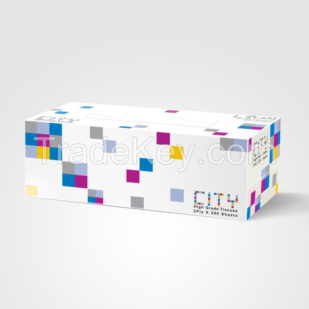City Facial tissue paper