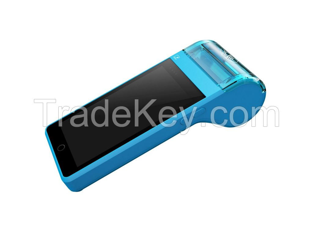 Handheld POS EMV Mastripe NFC Printer Integrated Scanner