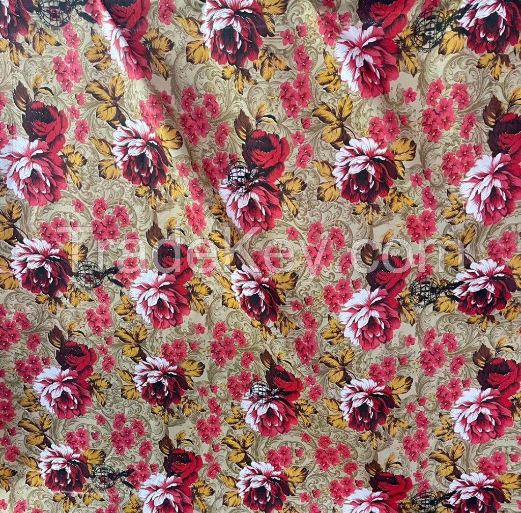 100% Polyester Bed sheet fabric with pigment print