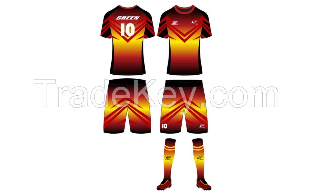 custom sublimation soccer shirt jerseys print polyester man soccer shorts wear training uniform set your logo jersey for sale