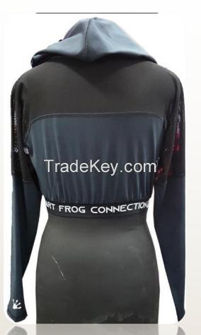 Wholesale streetwear sweatshirts women long sleeves crop top gym wear hoodie