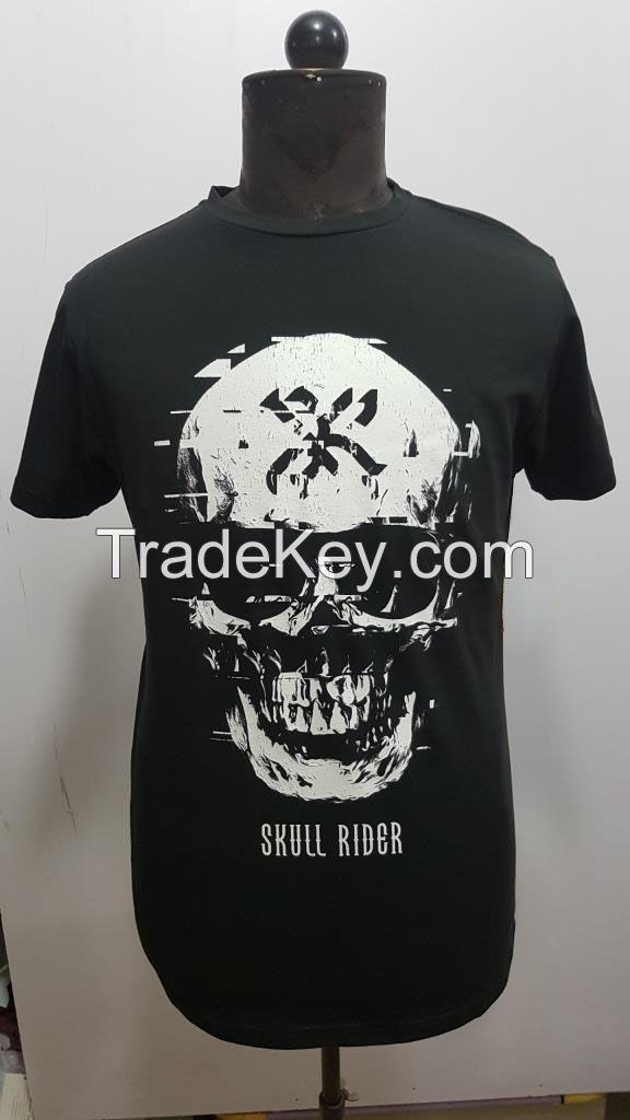 Wholesale 100% Cotton Blank O-Neck designs tshirt with logo custom logo printed oversized tshirt for men