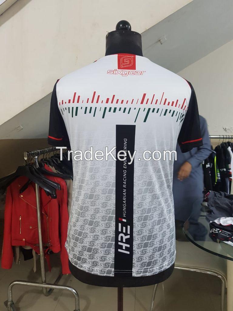 Digital Printing Sublimated Motorcycle Shirt /oem Moisture Wicking Motor Racing Shirts/Jersey