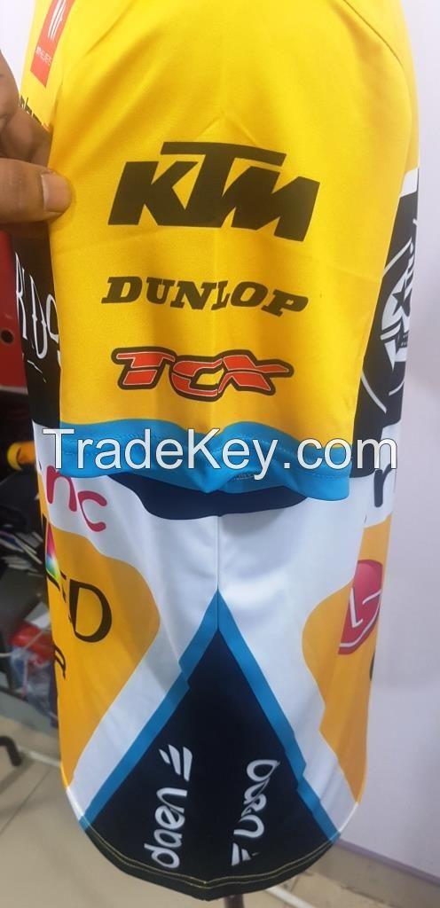 Custom Dye Sublimated Shirt/ Shirt sleeve/ Moto Cross/ Off Road/ Race Wear Clothing