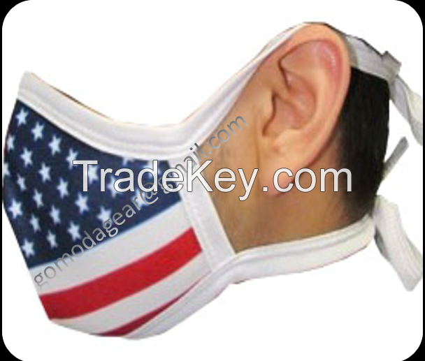 Custom print face mask cloth polyester cotton sublimation face mask
