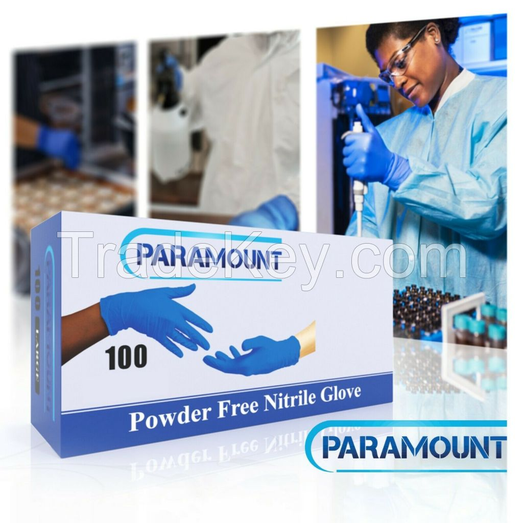 100 PCS EXAMINATION NITRILE GLOVES,POWDER FREE,INDIGO BLUE,4MIL,X-LARGE