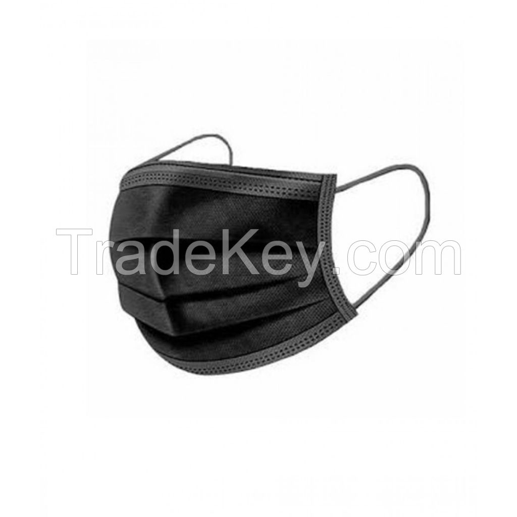 3-Ply Disposable Medical Face Mask (Black)