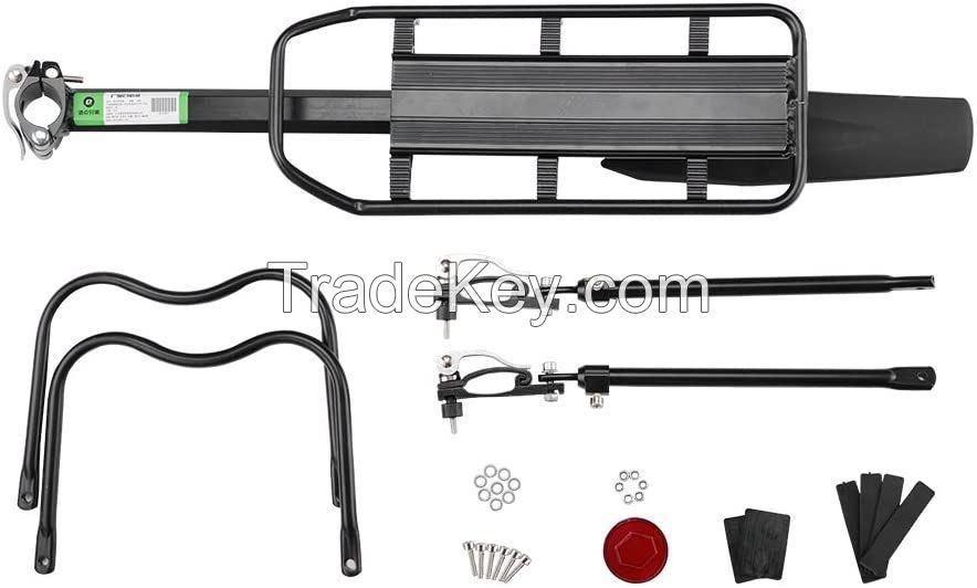 Bicycle Cargo Rack Mountain Bike Fender Board Quick Release Carrier Rear Rack Alloy Black