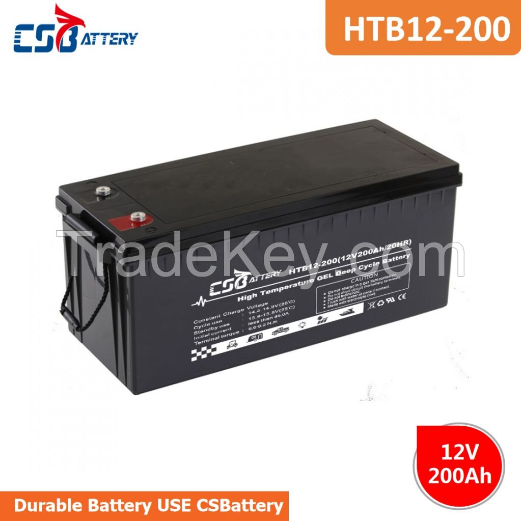CSBattery 12v200ah Deep Cycle GEL Battery for solar/Wind/ups