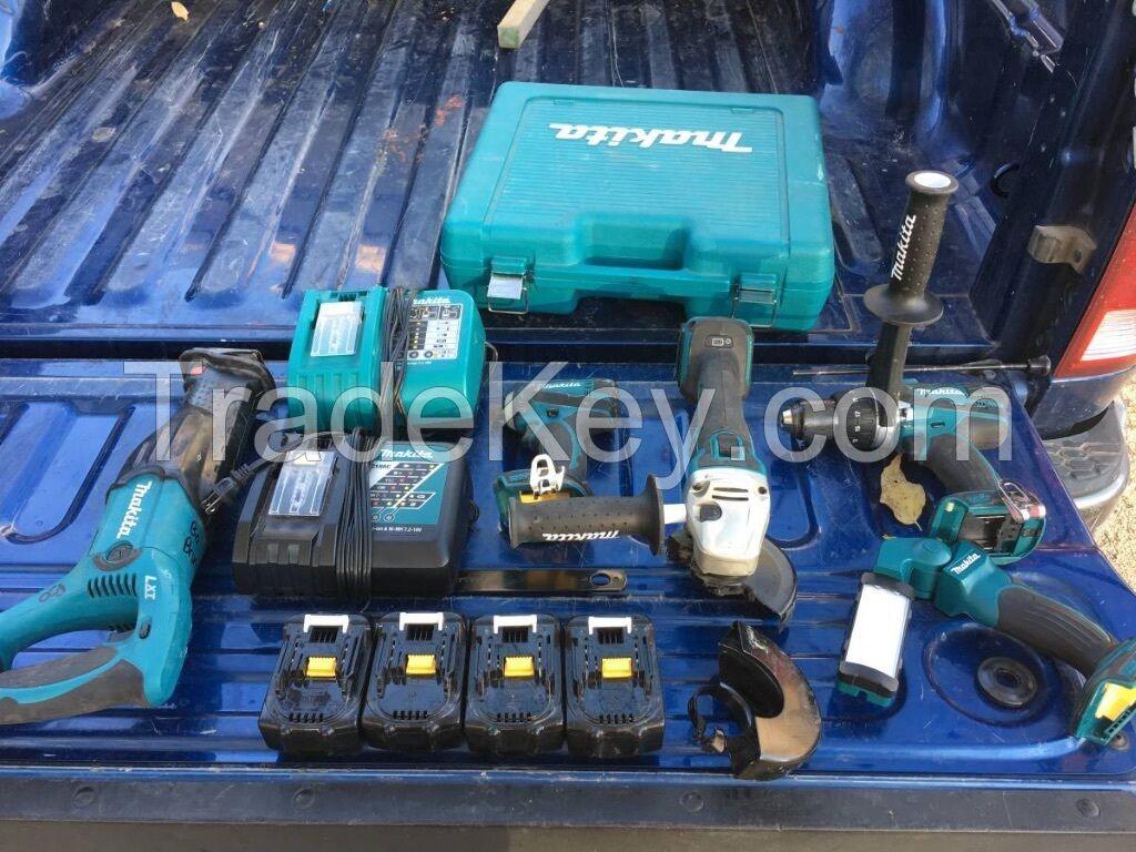 Makita 5 tool combo Kit. With Sawzall, Impact, Driver , Light, Angle Grinder