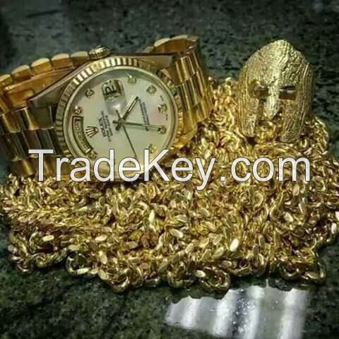 Gold bars, antiques, diamonds, and gold  dusts