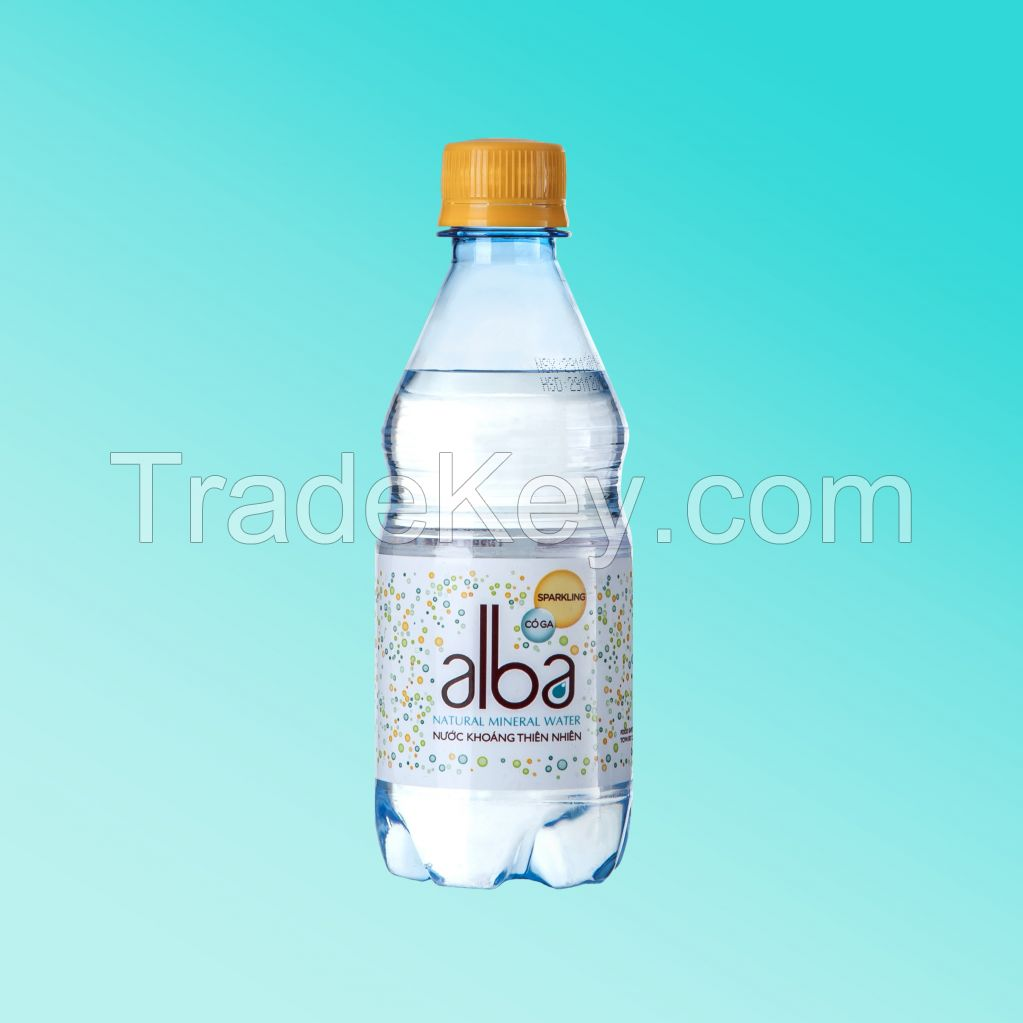 350ml Sparkling Alba Mineral Water Vietnam High Quality