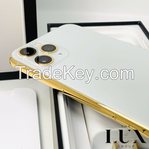 24K iPhone 11 Pro 256Gb Max Gold Plated Unlocked GSM CDMA w/Free Gold Aipods Pro
